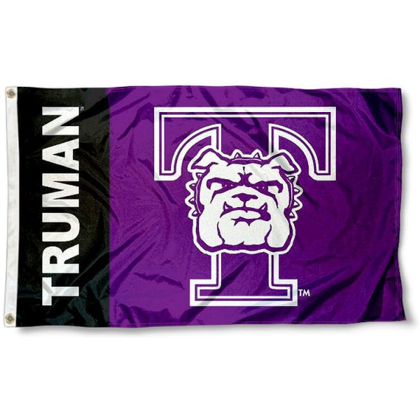 Truman State Flag measures 3'x5', is made of 100% poly, has quadruple stitched sewing, two metal grommets, and has double sided Team University logos. Our Truman Bulldogs 3x5 Flag is officially licensed by the selected university and the NCAA.