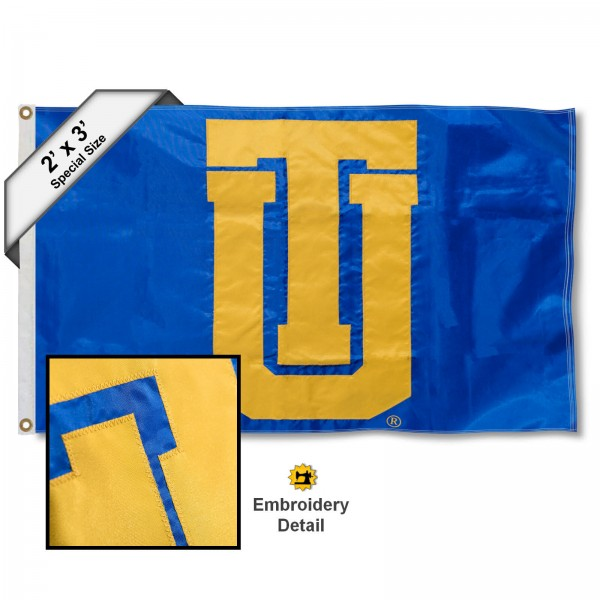 TU Golden Hurricanes Small 2'x3' Flag measures 2x3 feet, is made of 100% nylon, offers quadruple stitched flyends, has two brass grommets, and offers embroidered TU Golden Hurricanes logos, letters, and insignias. Our TU Golden Hurricanes Small 2'x3' Flag is Officially Licensed by the selected university.