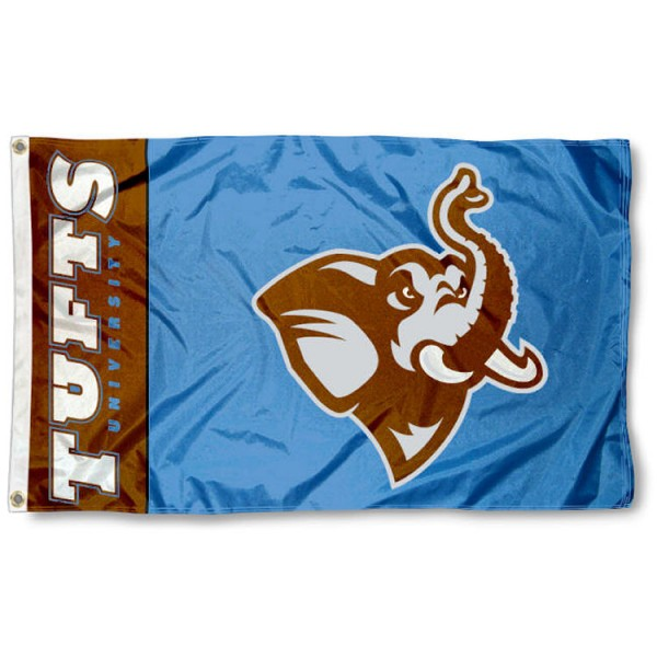 Tufts Jumbos Flag is made of 100% nylon, offers quad stitched flyends, measures 3x5 feet, has two metal grommets, and is viewable from both side with the opposite side being a reverse image. Our Tufts Jumbos Flag is officially licensed by the selected college and NCAA