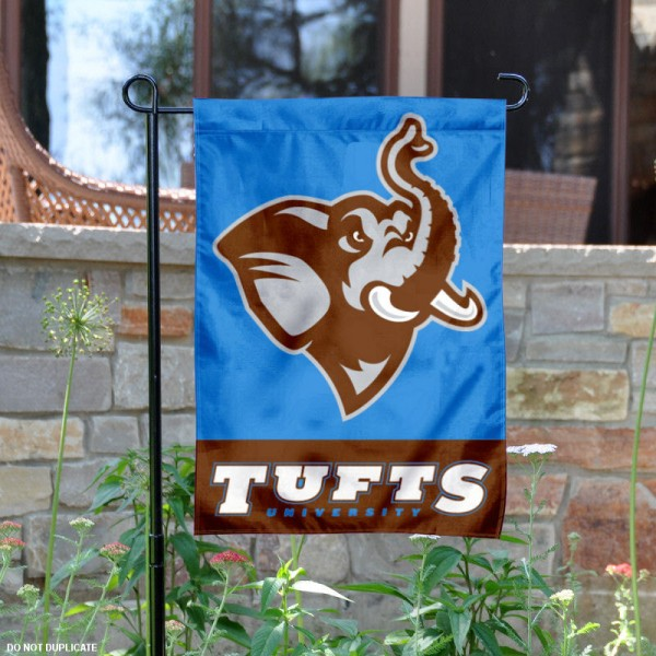 Tufts Jumbos Garden Flag is 13x18 inches in size, is made of 2-layer polyester, screen printed Tufts Jumbos athletic logos and lettering. Available with Same Day Express Shipping, Our Tufts Jumbos Garden Flag is officially licensed and approved by Tufts Jumbos and the NCAA.