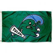 Tulane Green Wave Angry Wave Flag