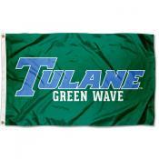 Tulane Green Wave Blue Font Flag