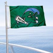 Tulane Green Wave Boat and Mini Flag