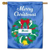 Tulane Green Wave Happy Holidays Banner Flag
