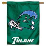 Tulane Green Wave Logo Banner Flag