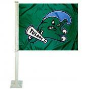 Tulane Green Wave Logo Car Flag
