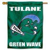 Tulane Green Wave Logo Double Sided House Flag