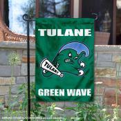 Tulane Green Wave Wordmark Garden Flag