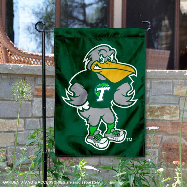 Tulane Riptide the Pelican Garden Flag is 13x18 inches in size, is made of 2-layer polyester, screen printed university athletic logos and lettering. Available with Same Day Express Shipping, our Tulane Riptide the Pelican Garden Flag is officially licensed and approved by the university and the NCAA.