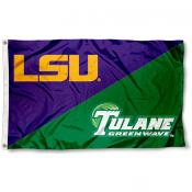 Tulane vs. LSU House Divided 3x5 Flag