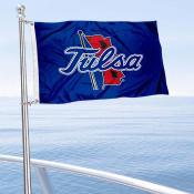 Tulsa Hurricanes Boat and Mini Flag
