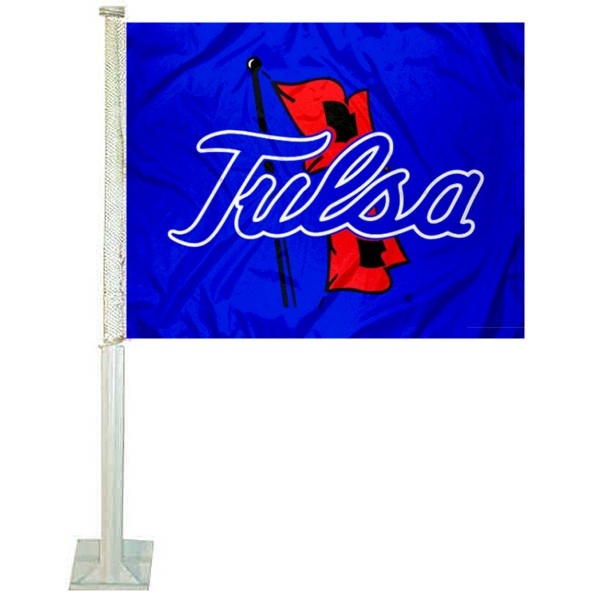 Tulsa Hurricanes Car Window Flag measures 12x15 inches, is constructed of sturdy 2 ply polyester, and has screen printed school logos which are readable and viewable correctly on both sides. Tulsa Hurricanes Car Window Flag is officially licensed by the NCAA and selected university.