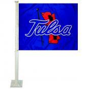 Tulsa Hurricanes Car Window Flag