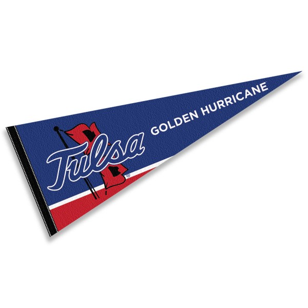 Tulsa Hurricanes Decorations consists of our full size pennant which measures 12x30 inches, is constructed of felt, is single sided imprinted, and offers a pennant sleeve for insertion of a pennant stick, if desired. This Tulsa Hurricanes Decorations is officially licensed by the selected university and the NCAA