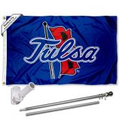 Tulsa Hurricanes Flag Pole and Bracket Kit