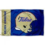 Tulsa Hurricanes Football Helmet Flag