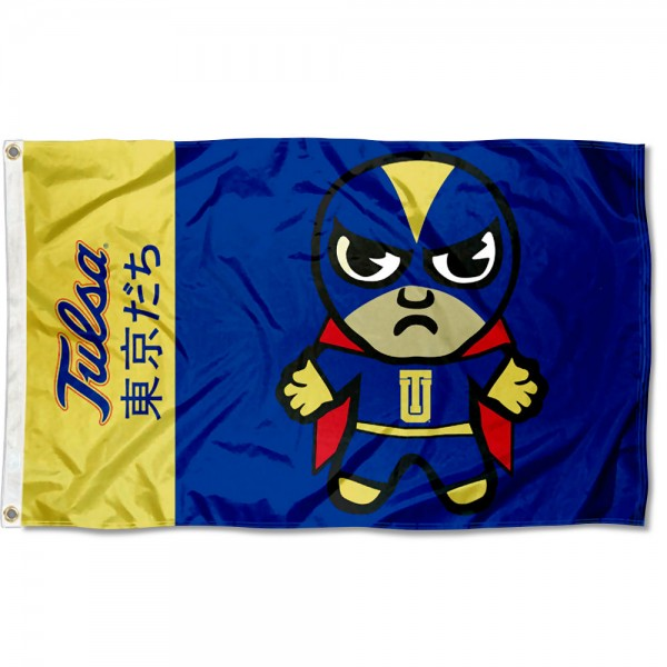 Tulsa Hurricanes Kawaii Tokyo Dachi Yuru Kyara Flag measures 3x5 feet, is made of 100% polyester, offers quadruple stitched flyends, has two metal grommets, and offers screen printed NCAA team logos and insignias. Our Tulsa Hurricanes Kawaii Tokyo Dachi Yuru Kyara Flag is officially licensed by the selected university and NCAA.