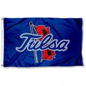 Tulsa Hurricanes Outline Logo Flag