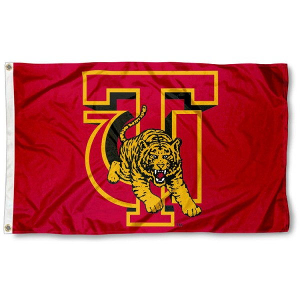 Tuskegee Golden Tigers Flag is made of 100% nylon, offers quad stitched flyends, measures 3x5 feet, has two metal grommets, and is viewable from both side with the opposite side being a reverse image. Our Tuskegee Golden Tigers Flag is officially licensed by the selected college and NCAA