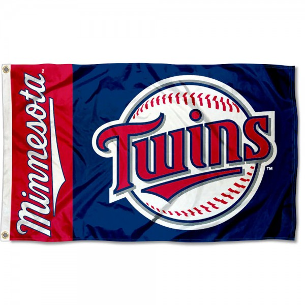 The Twins Outdoor Flag is four-stitched bordered, double sided, made of poly, 3'x5', and has two grommets. These Minnesota Twins Outdoor Flags are MLB Genuine Merchandise.