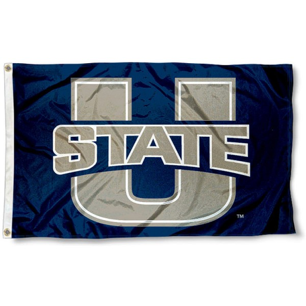 U State Aggies Flag measures 3'x5', is made of 100% poly, has quadruple stitched sewing, two metal grommets, and has double sided Team University logos. Our U State Aggies Flag is officially licensed by the selected university and the NCAA.