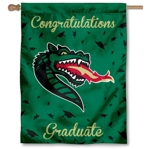 UAB Blazers Congratulations Graduate Flag measures 30x40 inches, is made of poly, has a top hanging sleeve, and offers dye sublimated UAB Blazers logos. This Decorative UAB Blazers Congratulations Graduate House Flag is officially licensed by the NCAA.