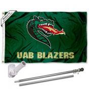 UAB Blazers Flag Pole and Bracket Kit