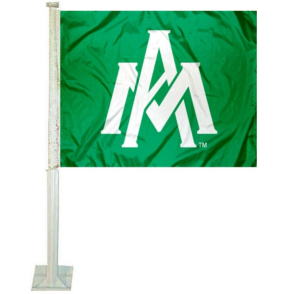 UAM Boll Weevils Logo Car Flag measures 12x15 inches, is constructed of sturdy 2 ply polyester, and has screen printed school logos which are readable and viewable correctly on both sides. UAM Boll Weevils Logo Car Flag is officially licensed by the NCAA and selected university.