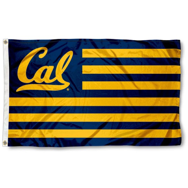 UC Berkeley Bears Striped Flag measures 3'x5', is made of nylon, offers four-stitched flyends for durability, has two metal grommets, and is viewable from both sides with a reverse image on the opposite side. Our UC Berkeley Bears Striped Flag is officially licensed by the selected school university and the NCAA.