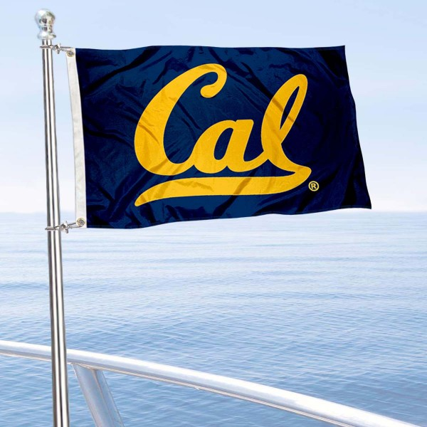 UC Berkeley Golf Cart Flag is a small 12x18 inches, made of 2-ply polyester with quad stitched flyends, and is double-sided. Our Golf Cart Logo Flags are Officially Licensed and Approved by Cal and NCAA.