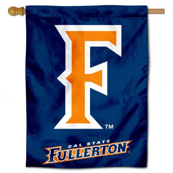 """UC Fullerton Titans Banner Flag is constructed of polyester material, is a vertical house flag, measures 30""""x40"""", offers screen printed athletic insignias, and has a top pole sleeve to hang vertically. Our UC Fullerton Titans Banner Flag is Officially Licensed by UC Fullerton Titans and NCAA."""