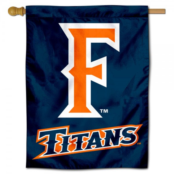 UC Fullerton Titans Double Sided House Flag is a vertical house flag which measures 30x40 inches, is made of 2 ply 100% polyester, offers screen printed NCAA team insignias, and has a top pole sleeve to hang vertically. Our UC Fullerton Titans Double Sided House Flag is officially licensed by the selected university and the NCAA.