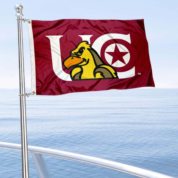 UC Golden Eagles Boat and Mini Flag is 12x18 inches, polyester, offers quadruple stitched flyends for durability, has two metal grommets, and is double sided. Our mini flags for University of Charleston are licensed by the university and NCAA and can be used as a boat flag, motorcycle flag, golf cart flag, or ATV flag.