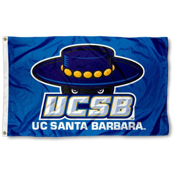 UC Santa Barbara 3x5 Flag is made of 100% nylon, offers quad stitched flyends, measures 3x5 feet, has two metal grommets, and is viewable from both side with the opposite side being a reverse image. Our UC Santa Barbara 3x5 Flag is officially licensed by the selected college and NCAA.