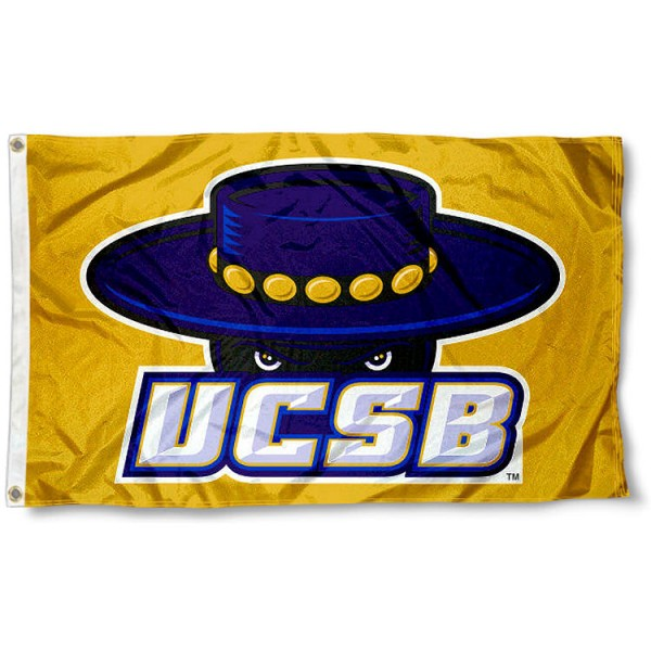 UC Santa Barbara Gold Flag measures 3x5 feet, is made of 100% polyester, offers quadruple stitched flyends, has two metal grommets, and offers screen printed NCAA team logos and insignias. Our UC Santa Barbara Gold Flag is officially licensed by the selected university and NCAA.