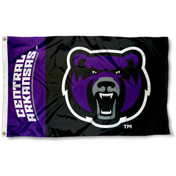 UCA Bears Head Logo Flag measures 3'x5', is made of 100% poly, has quadruple stitched sewing, two metal grommets, and has double sided Central Arkansas University logos. Our UCA Bears Head Logo Flag is officially licensed by the selected university and the NCAA.