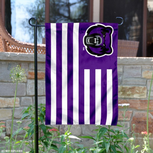 UCA Bears Striped Garden Flag is 13x18 inches in size, is made of 2-layer polyester, screen printed UCA Bears Striped athletic logos and lettering. Available with Same Day Express Shipping, Our UCA Bears Striped Garden Flag is officially licensed and approved by UCA Bears and the NCAA.