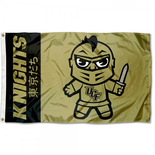 UCF Knights Kawaii Tokyo Dachi Yuru Kyara Flag measures 3x5 feet, is made of 100% polyester, offers quadruple stitched flyends, has two metal grommets, and offers screen printed NCAA team logos and insignias. Our UCF Knights Kawaii Tokyo Dachi Yuru Kyara Flag is officially licensed by the selected university and NCAA.