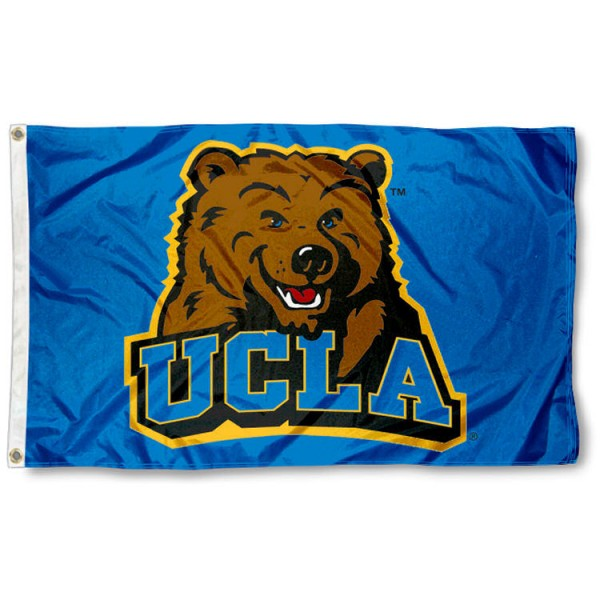 UCLA 3x5 Flag is made of 100% nylon, offers quad stitched flyends, measures 3x5 feet, has two metal grommets, and is viewable from both side with the opposite side being a reverse image. Our UCLA 3x5 Flag is officially licensed by the selected college and NCAA.