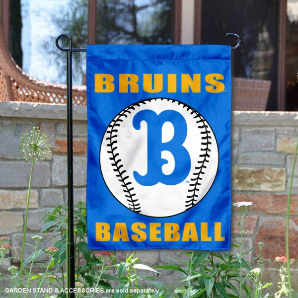 UCLA Bruins Baseball Team Garden Flag is 13x18 inches in size, is made of 2-layer polyester, screen printed University of California Los Angeles Baseball athletic logos and lettering. Available with Express Shipping, Our UCLA Bruins Baseball Team Garden Flag is officially licensed and approved by University of California Los Angeles Baseball and the NCAA.