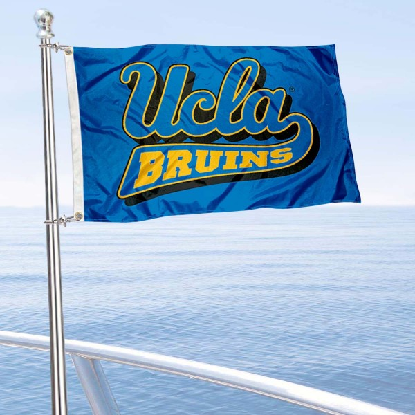UCLA Bruins Golf Cart Flag is a small 12x18 inches, made of 2-ply polyester with quad stitched flyends, and is double-sided. Our Golf Cart Logo Flags are Officially Licensed and Approved by UCLA and NCAA.