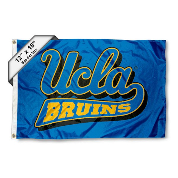 UCLA Bruins Nautical Flag measures 12x18 inches, is made of two-ply nylon, offers double stitched flyends for durability, has two metal grommets, and is viewable from both sides. Our UCLA Bruins Nautical Flag is officially licensed by the selected university and the NCAA and can be used as a motorcycle flag, golf cart flag, or ATV flag