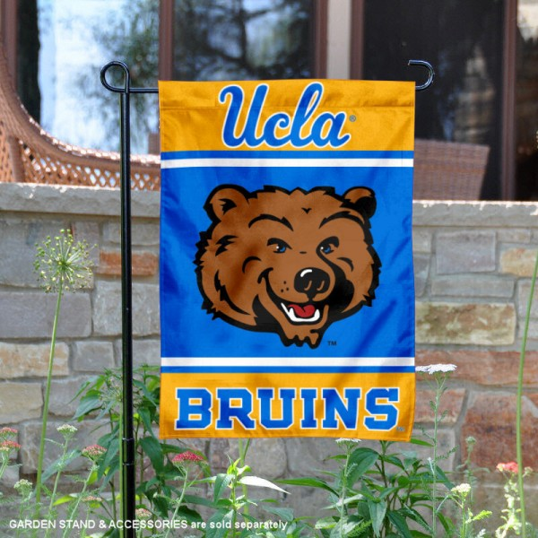 UCLA Garden Flag is 13x18 inches in size, is made of 2-layer polyester, screen printed logos and lettering. Available with Same Day Express Shipping, Our UCLA Garden Flag is officially licensed and approved by the NCAA.