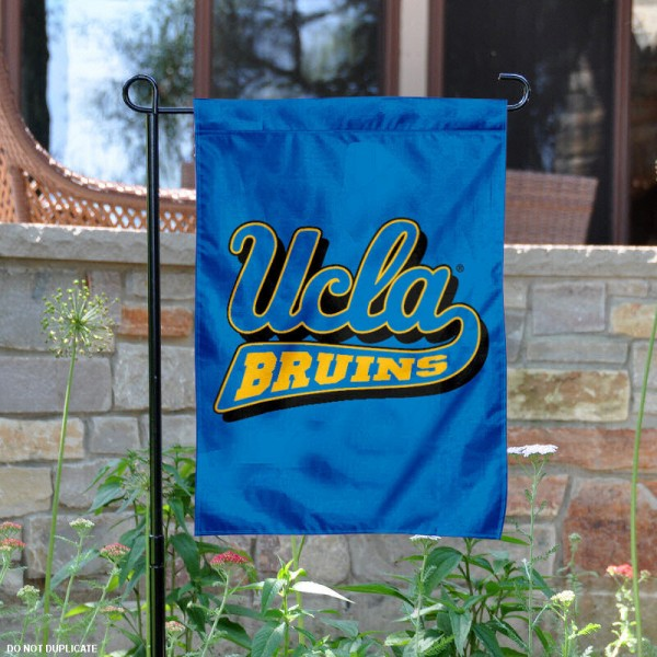 UCLA Garden Flag is made of 100% nylon, measures 13x18 inches, and has screen printed NCAA School insignias and lettering. The UCLA Garden Flag is approved by UCLA and NCAA and university garden flags are great for your entranceway, garden, yard, mailbox, or window.