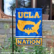 UCLA Garden Flag with USA Country Stars and Stripes