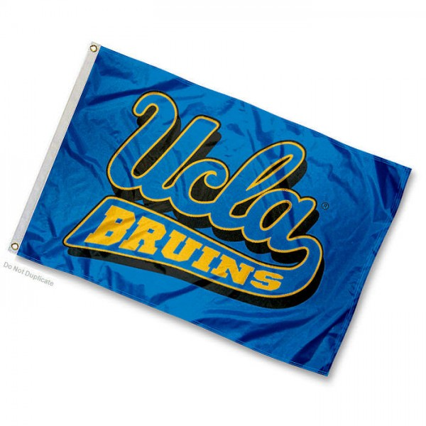 UCLA Mini Flag is 12x18 inches, 100% nylon, offers double stitched flyends for durability, has two metal grommets, and is double sided. Our mini flags are licensed by the university and NCAA and can be used as a boat flag, motorcycle flag, golf cart flag, or ATV flag