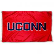 UCONN Athletic Red Logo Flag