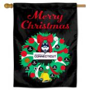 UCONN Happy Holidays Banner Flag