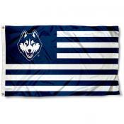 UCONN Striped Alumni Nation Flag