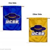 UCSB Gauchos Double Logo House Flag